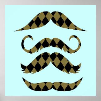 Retro mustascher poster