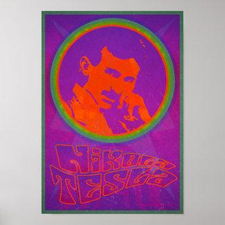 Retro Nikola Tesla affisch