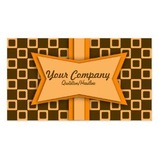 Retro orange- och bruntvisitkort set av standard visitkort