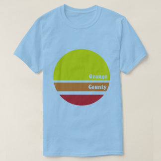 Retro orange ståndsmässig T-tröja Tee Shirt