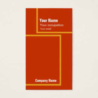 Retro orange visitkort för arkitektur