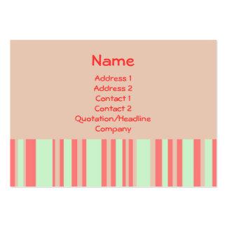 retro orangegröntrandar set av breda visitkort