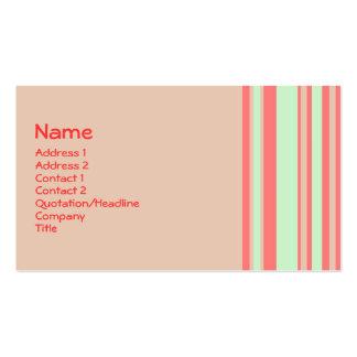retro orangegröntrandar set av standard visitkort