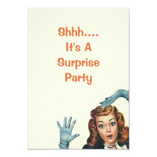 Retro överrrakningfödelsedagsfest inbjudan för