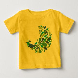 Retro påfågel t-shirt