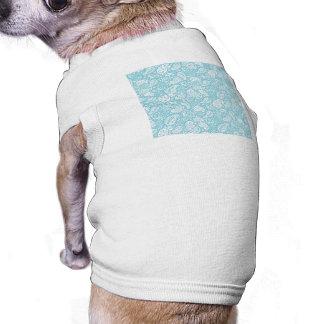 Retro Paisley i krickablått Långärmad Hundtöja