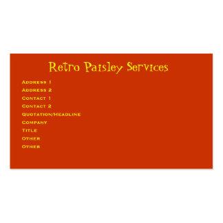 Retro Paisley Set Av Standard Visitkort