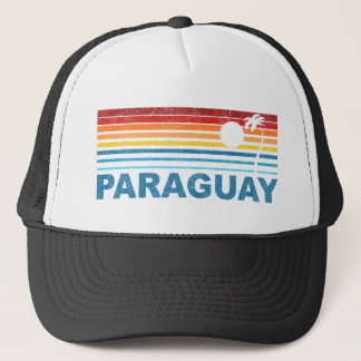 Retro palmträd Paraguay Keps