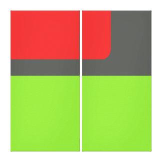 Retro paneler 003 canvastryck