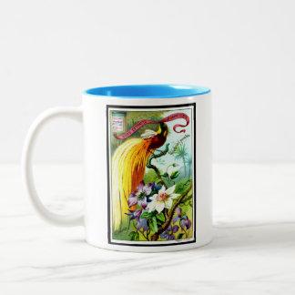 Retro paradisfågelmugg Två-Tonad mugg