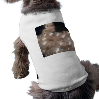 Retro pärlor för antikvitet för vintagepälskattung t-shirt för hundar