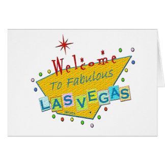 Retro party i den Las Vegas inbjudan Hälsningskort
