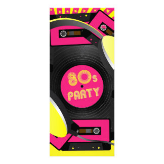 Retro party anpassningsbara inbjudningskort