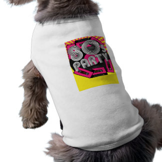 Retro partybakgrund djur tee shirt