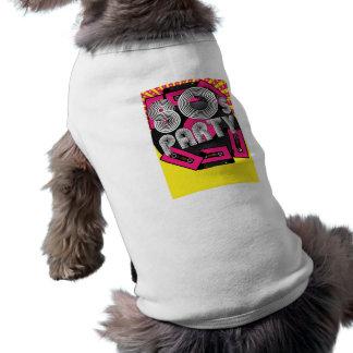 Retro partybakgrund hundtröja
