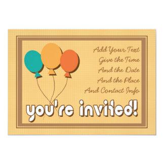 Retro partyinbjudan 12,7 x 17,8 cm inbjudningskort