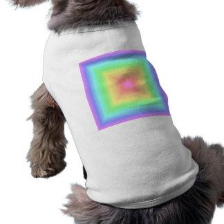 Retro pastellfärgad regnbågeBlur för ljust abstrak Tröja För Hundar