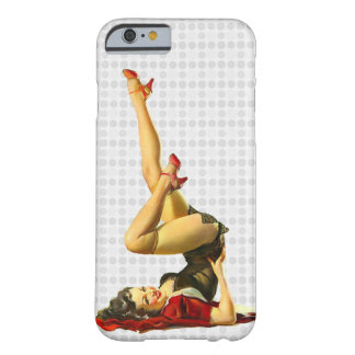 Retro pinupflicka barely there iPhone 6 skal