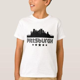Retro Pittsburgh horisont Tee Shirt