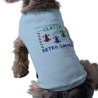 Retro PIXELtävling Långärmad Hundtöja