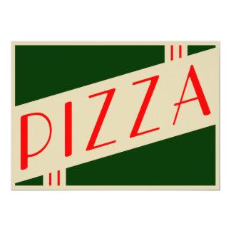 retro pizzaparty 12,7 x 17,8 cm inbjudningskort
