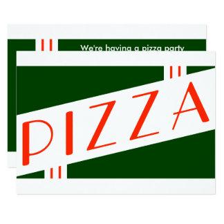 retro pizzaparty 8,9 x 12,7 cm inbjudningskort