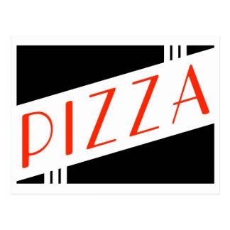 retro pizzaparty vykort