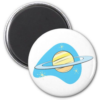 Retro planet Saturn Kylskåpmagneter