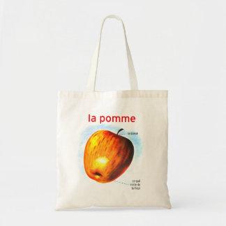 Retro pomme Apple för la för vintagehötorgskonstma Budget Tygkasse
