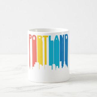 Retro Portland horisont Kaffemugg