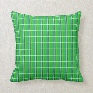 Retro Preppy grön pläddekorativ kudde