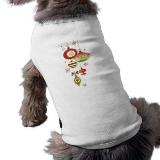 Retro prydnadar och snö - glad helg hund tröja