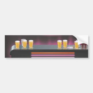 Retro pub för 80-tal bildekal
