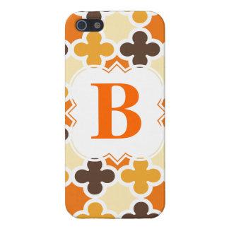 Retro Quatrefoil för personligMonogram mönster iPhone 5 Cover