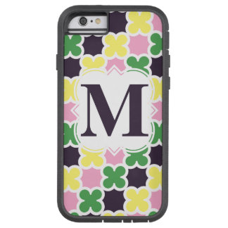 Retro Quatrefoil för personligMonogram mönster Tough Xtreme iPhone 6 Case
