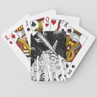Retro raket för utrymme Sci-Fi Spel Kort