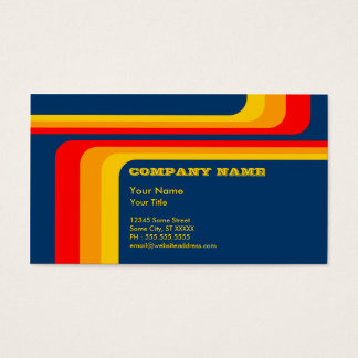 retro randar: v.2: set av standard visitkort