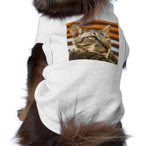 Retro randkattT-tröja Djur Tee Shirt