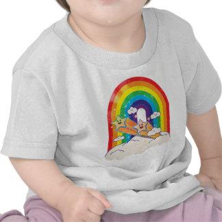Retro regnbåge och stjärnat-skjorta t-shirt
