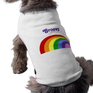 Retro regnbågehusdjurskjorta hund tshirt