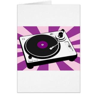 Retro rekord för beställnings- diskoTurntable Hälsningskort