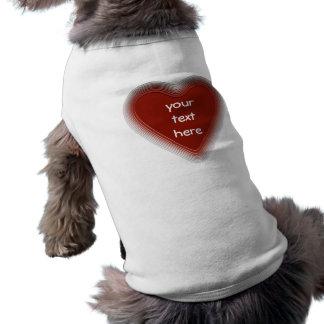 Retro röd hjärtahund tröja för din text t-shirt för hundar