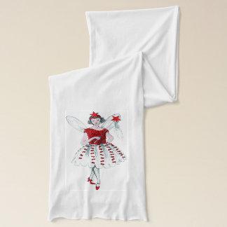 Retro röd julfeScarf Sjal