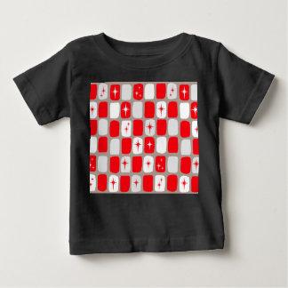 Retro röd Starbursts babyT-tröja Tee Shirt