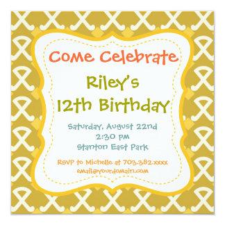 Retro roliga mönsterfödelsedagsfest inbjudan