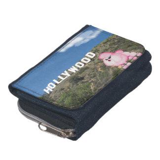 Retro rosa plånbok för pudelHollywood CA Denim