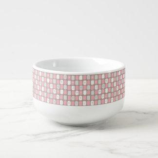 Retro rosa Starbursts Kopp för Soppa