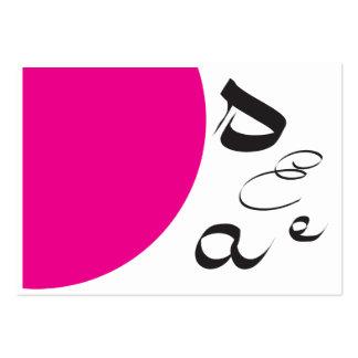 Retro rosa visitkortar för Calligraphy Set Av Breda Visitkort