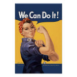 Retro Rosie kan vi göra det Posters