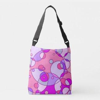 Retro rosor bubblar messenger bag axelväska